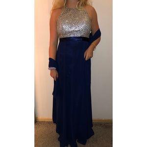 Formal navy blue dress!